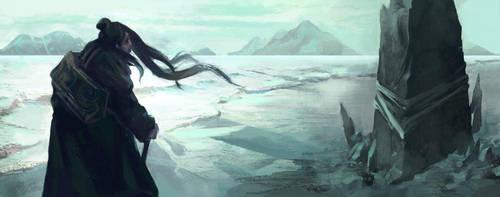 Frozen Beach by Scendre-Lab