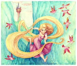 Rapunzel 5 Disney Tangled by B-AGT