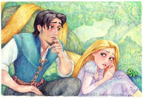 Rapunzel Flynn Tangled by B-AGT