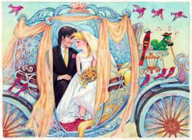 Rapunzel and Flynn Wedding by B-AGT