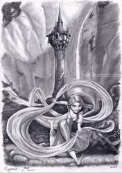 Rapunzel in 2D by B-AGT