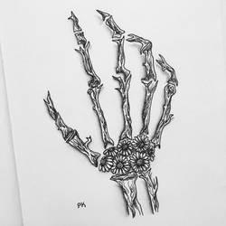 Bones // daisies by MajesticPaula