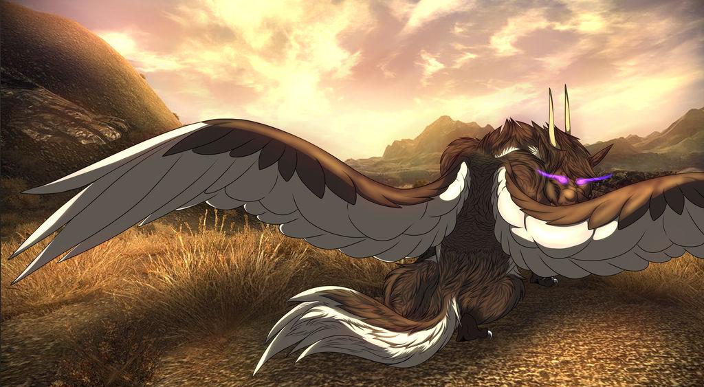 Desert Wolf  by Redwolfless