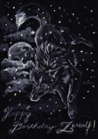 BirthdayCard - Zerwolf by Marzzunny