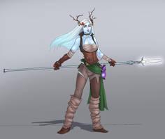 Aurora Kell, Genasi Druid by SaintWalker1806