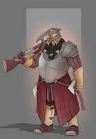 Argus Ironbrand, Kraghammer Gunslinger by SaintWalker1806