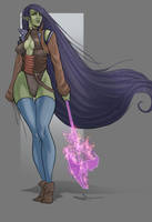 Spectra Urseth, The Half-Orc Hexblade by SaintWalker1806