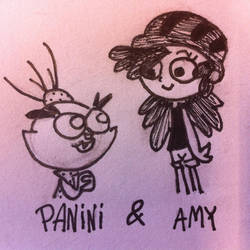 Panini and Amy by ARTis2awsome