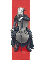 +Comission+ Cello and Sorrow by atlantisdesetoiles