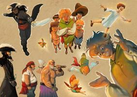 peter pan characters by Jovan-Ukropina