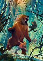 Malcolm and Ramses vs Bear by Jovan-Ukropina