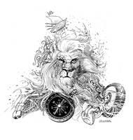 lion tattoo by Jovan-Ukropina