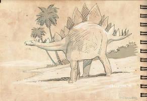 Dinosaur Sketch 2 by Jovan-Ukropina