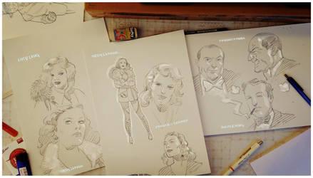 V Girls  character sketches by Jovan-Ukropina