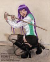 Cosplayer as Saeko Busujima by GregoriusU