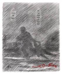Hanako-san--chase in the rain by GregoriusU