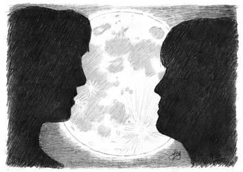 HANAKO-SAN: Na-chan and Emiko in the Moonlight by GregoriusU