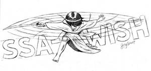 Rukia Sketch for Bleach parody by GregoriusU