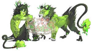 Green Ravenfaced Shrub Boiba (AUCTION:Closed) by Macemonster