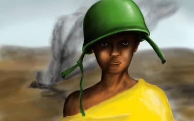young soldier by robertoquerido