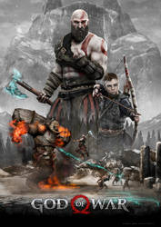 God of War 2 Poster by CarlosDattoliArt