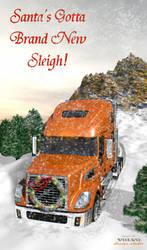 Santa's Brand New Sleigh by Futurender