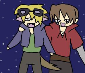 Kazehiko and Jameson by Kazehiko