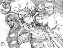 ultimates sketch by BrentMcKee