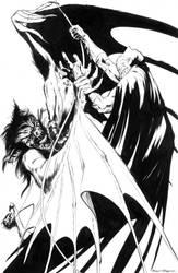 Batman Manbat yin yang by BrentMcKee