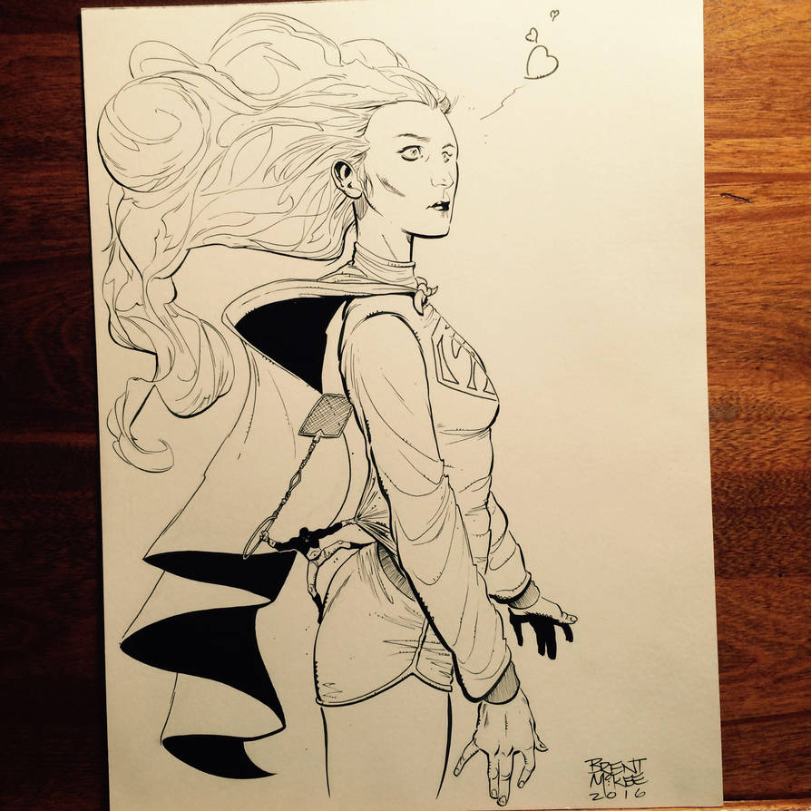 For sale   Super girl and atom by BrentMcKee