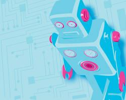 Robot Wallpaper by Tabbathehutt
