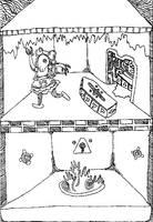 Visions of Underworld Dollhouse by cicadamarionette