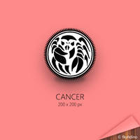 Zodiac Badge: Cancer by fkyhdino