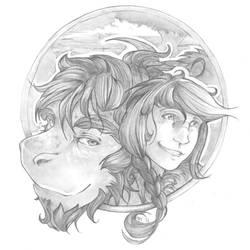 Dragontry: Rozali and Farol by talon-serena