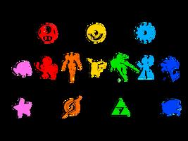 Smash4 Rainbow Overlay/Wallpaper by ravenoth-the-brave