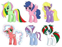 Pony Lineup by ketari