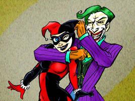 Joker Noogies by gypsygirlpress