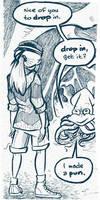 Squid makes a pun by gypsygirlpress