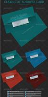 Clean-Cut Business Card by GrDezign