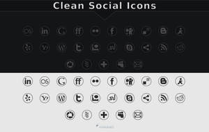 Clean Social Icons by GrDezign