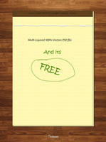 Notepad PSD file by GrDezign