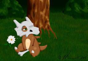 Cubone's Tears of the Lonely by Bleuxwolf