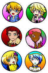 Tiger and Bunny Pins by SaetonChapelle