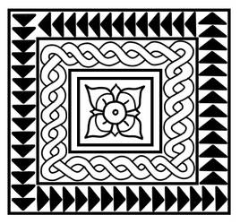 Free roman mosaic pattern (black) by Tamalice