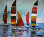 Windsurfing | Impressionist Art by zatende
