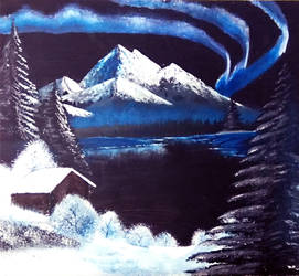 Night Landscape from Bob Ross' Paintings by zatende