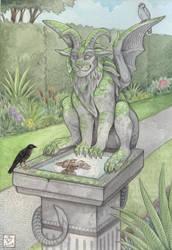 Garden Gargoyle by Sangluna