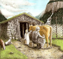 Old Norse Milking II by Satanoy