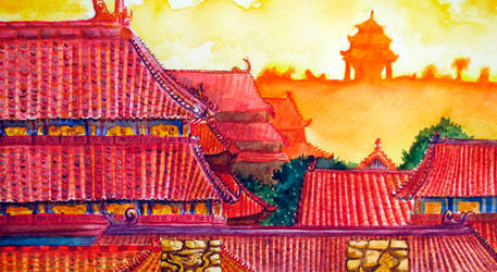 Chinese Landscape by cherrynahme