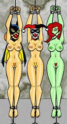 Gotham Girls Naked in Bondage by RedSpider2008